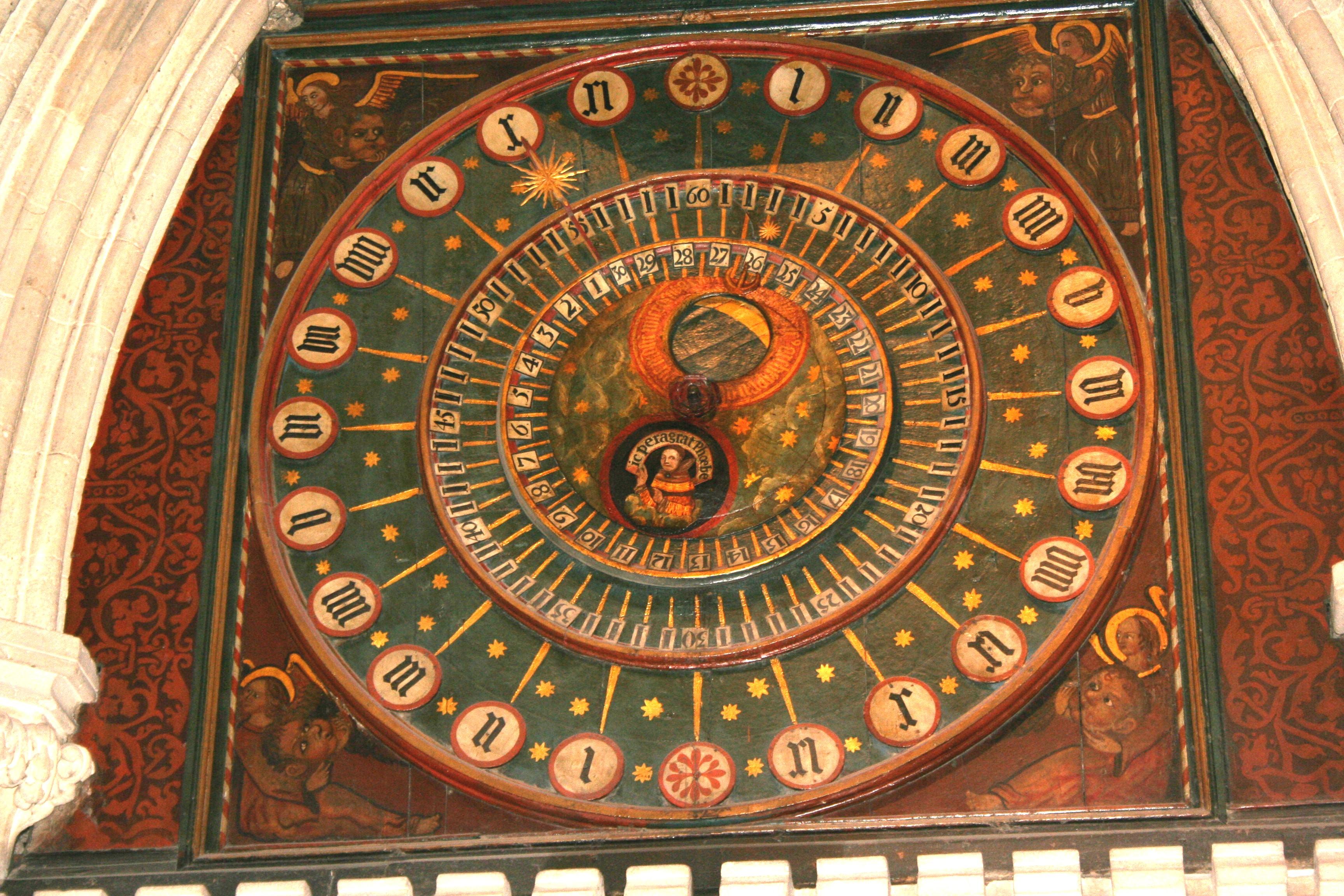 Original Clock in Wells Cathedral