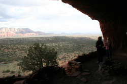 Looking Out from Shaman's Cave