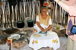 Woman Making Tortillas