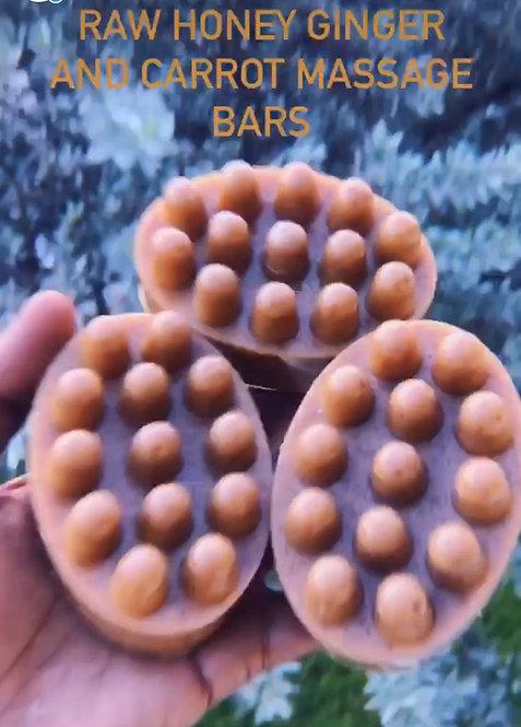 Honey Ginger Carrot Massage Bars