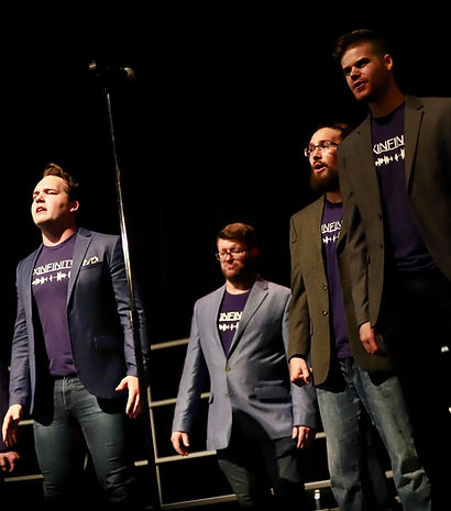 Men singing a cappella