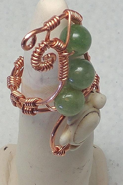 Ocean Wave Jade Finger Ring