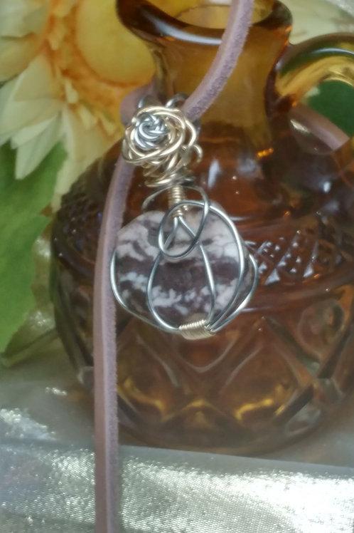 Silver/Gold Rose Pendant