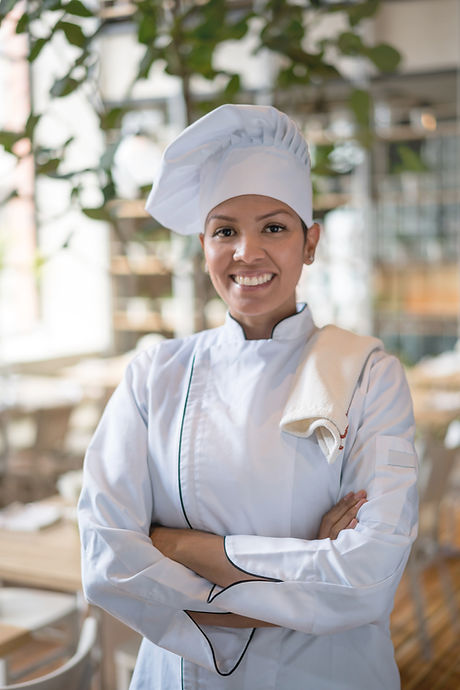 Улыбаясь шеф-повар