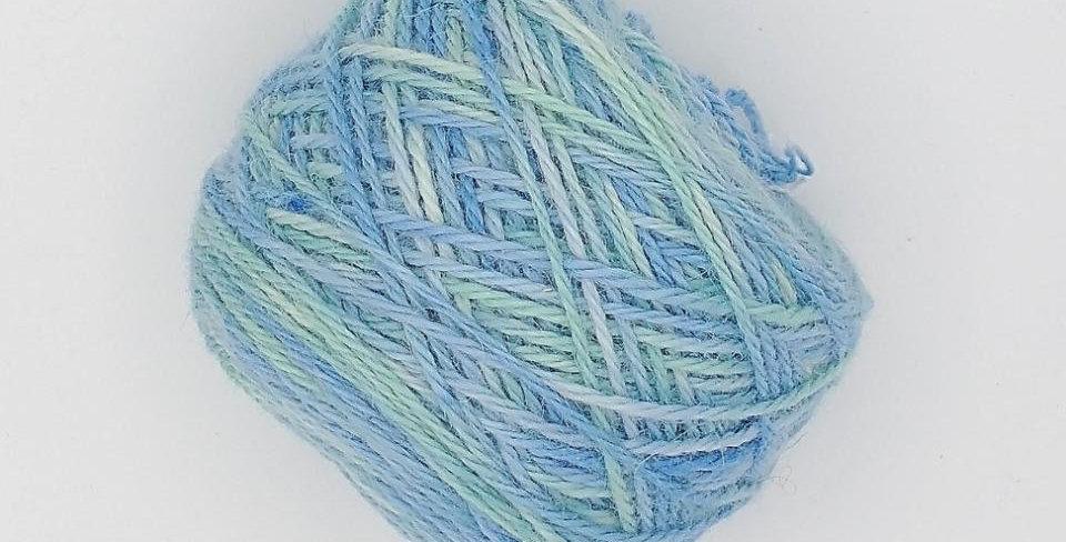 3 ply Worsted weight 100% alpaca yarn - Pastel Ocean