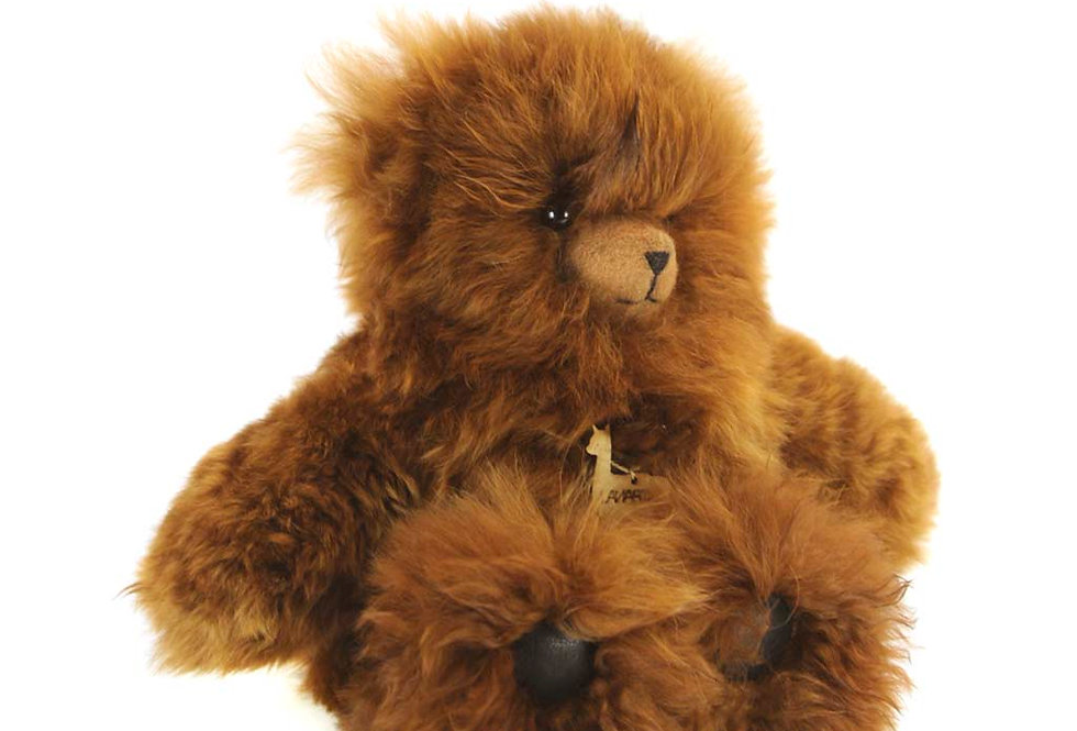 Classic Alpaca Heirloom Teddy Bear 14″ - Caramel