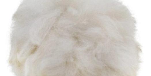 Alpaca Fuzzy Pom-Pom - White