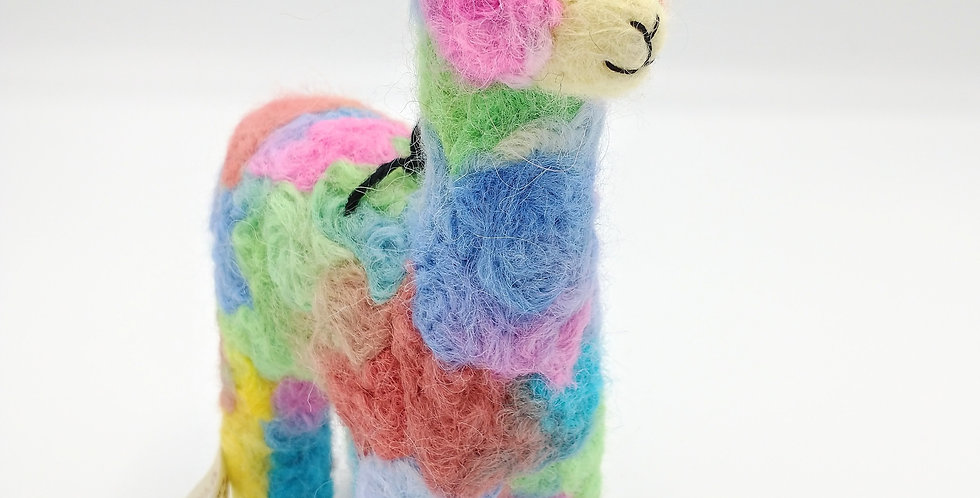 Mama 6.5″ Alpaca Fiber Sculpture - Confetti