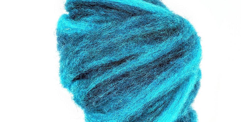 Roving - 100% Wool - 3.5 oz. Teal