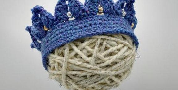 Handmade crown - blue