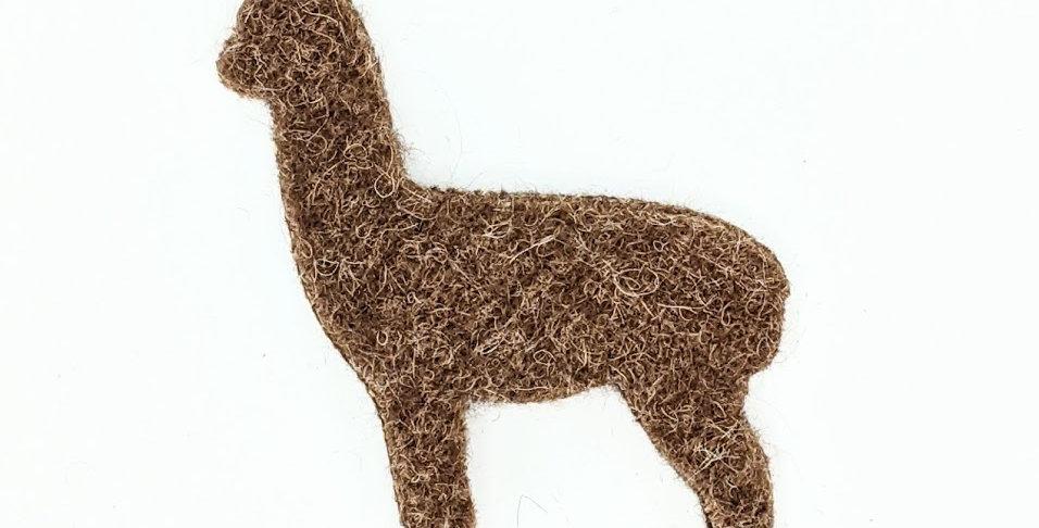 Felted Alpaca Ornament - brown
