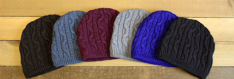 Bold Cable Beanie - Brown