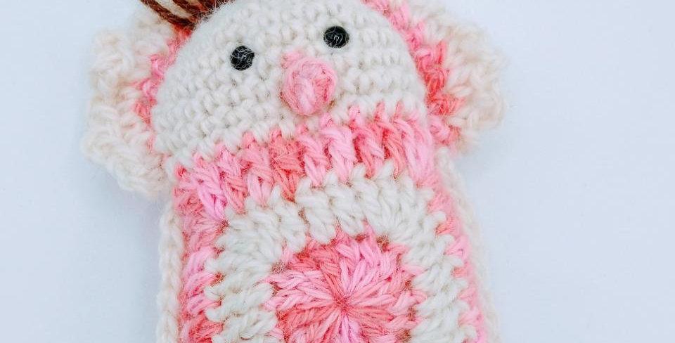 Handmade stuffed baby with a paci