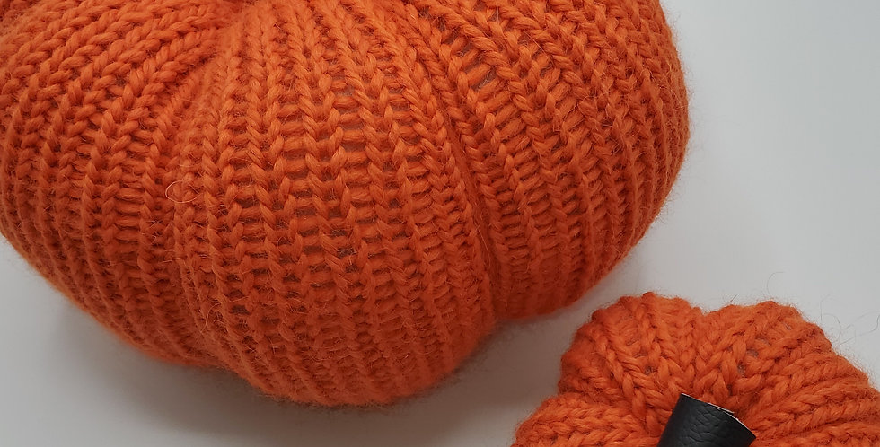 Handmade Pumpkin - set of 2 Orange