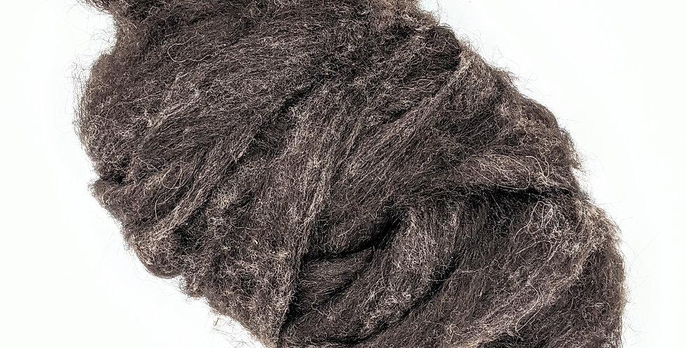 Roving - 100% Wool - 3.5 oz. Brown/Black