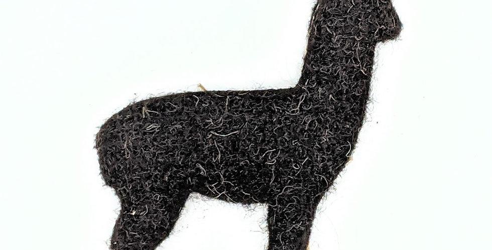 Felted Alpaca Ornament - black