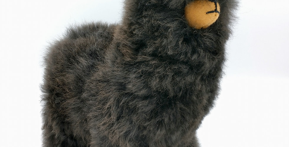 Plush Mama Alpaca 10″ - Black