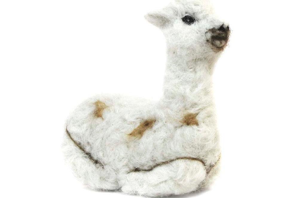 Cushing Cria Alpaca Fiber Sculpture - Pearl