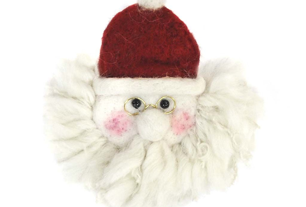 Santa Face Alpaca Holiday Decor
