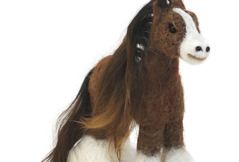 Horse: Felted Alpaca Sculpture