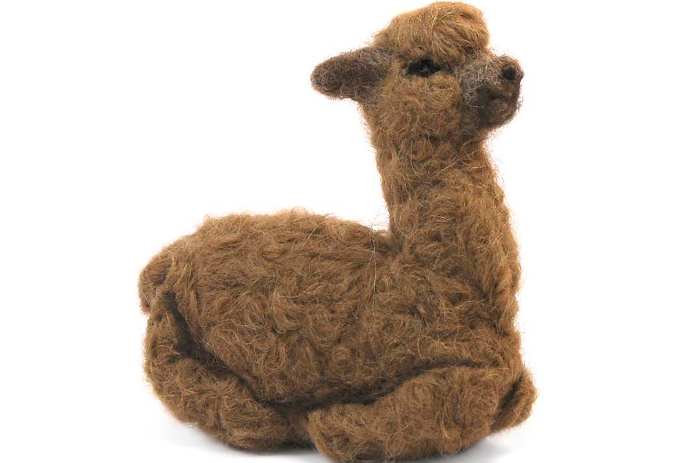 Cushing Cria Alpaca Fiber Sculpture - Caramel