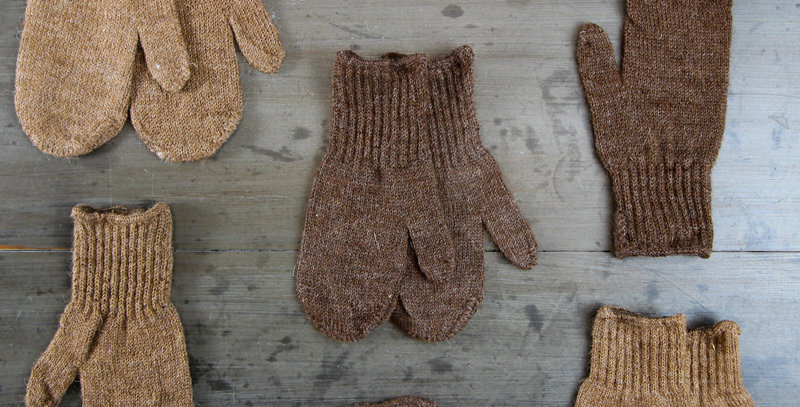 Toddler's Alpaca Mittens - Brown