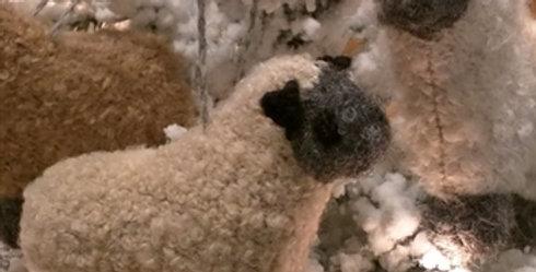 Fuzzy Sheep Ornament