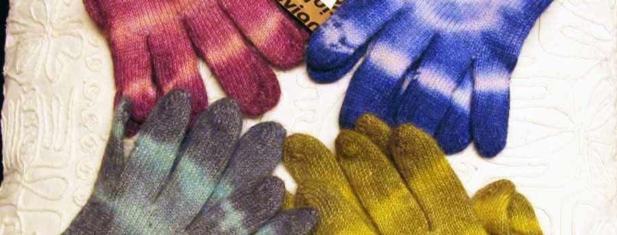 Tie Dye Alpaca Gloves