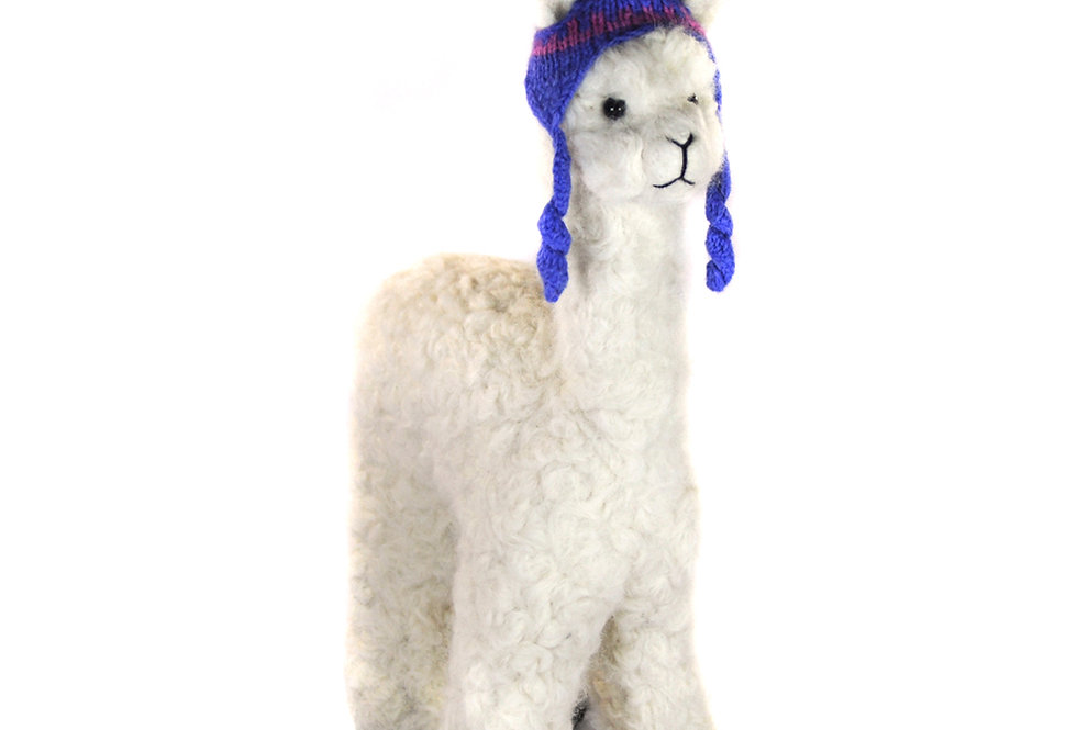 Herdsire 12″ Alpaca Fiber Sculpture - Pearl
