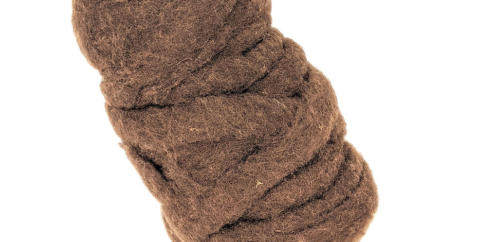 Roving - 100% Alpaca - 3.5 oz. Brown