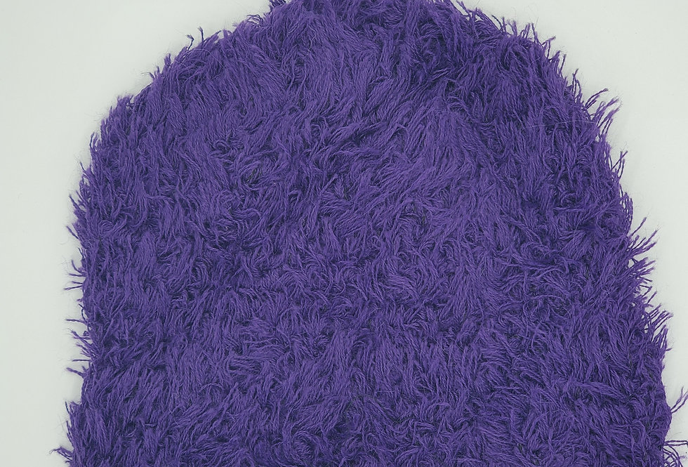 Shag Alpaca Hat - Purple