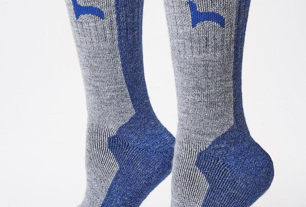 Hiker Alpaca Socks - Denim