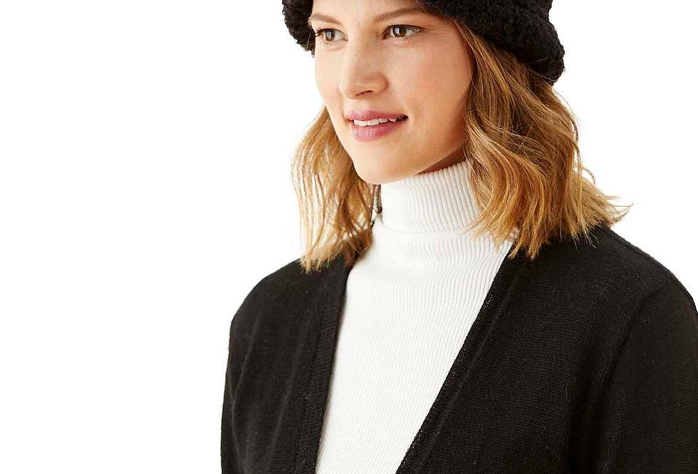 Boucle Alpaca Hat - black