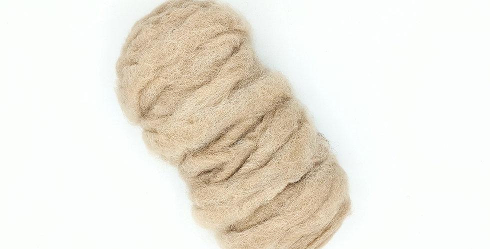 Roving - 100% Alpaca - 3.5 oz. Fawn