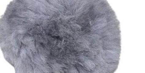 Alpaca Fuzzy Pom-Pom - Grey