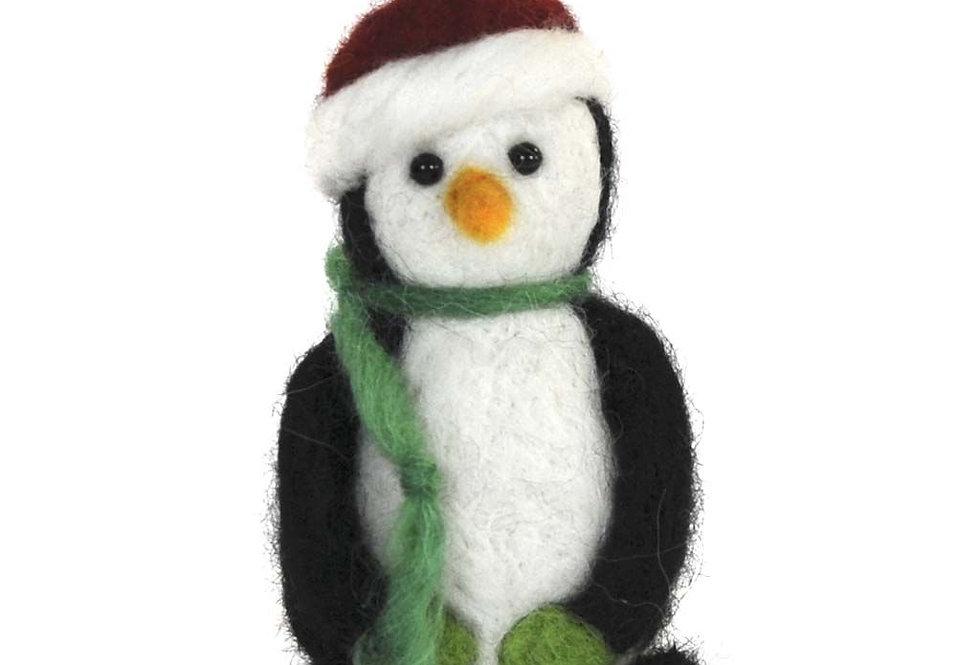 Holiday Penguin Alpaca Sculpture