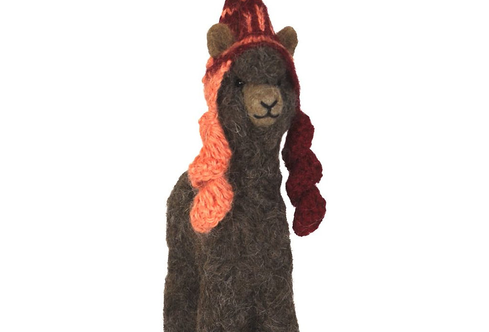 Herdsire 12″ Alpaca Fiber Sculpture - Rose Grey