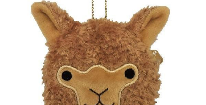 Cute Alpaca Face Coin Purse - Fawn