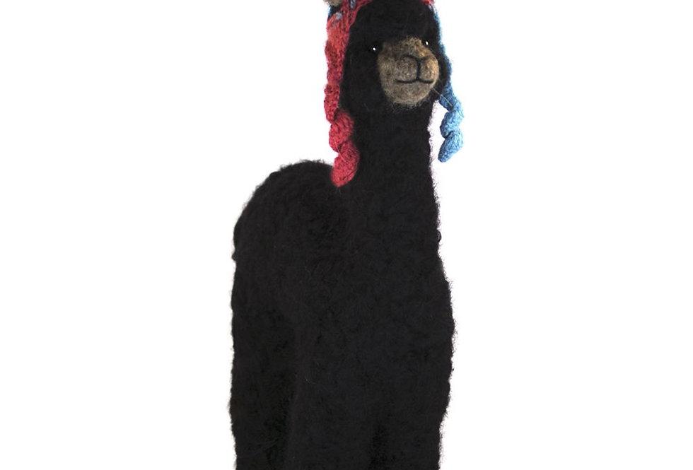 Herdsire 12″ Alpaca Fiber Sculpture - Black