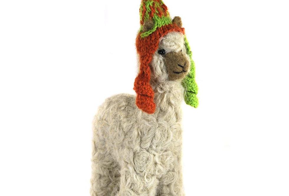 Mama 6.5″ Alpaca Fiber Sculpture - Fawn