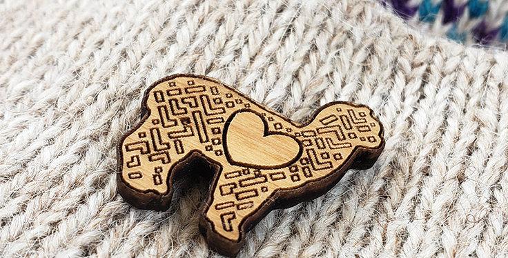 LOVE Alpaca Hat / Lapel Pin