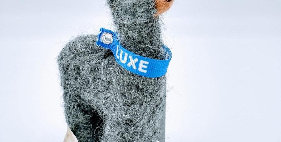 5.5″ Alpaca Fiber Sculpture - with Luxe collar