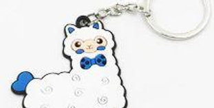 Alpaca Tag Key Chain - White