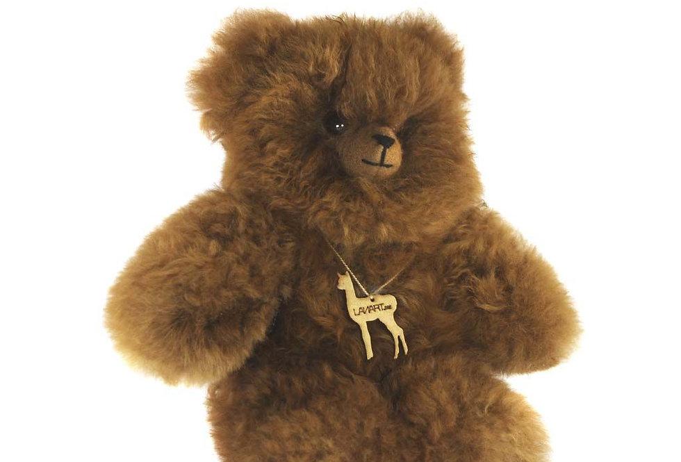 """Cuddly Alpaca Heirloom Teddy Bear 11"""" - Carmel"""