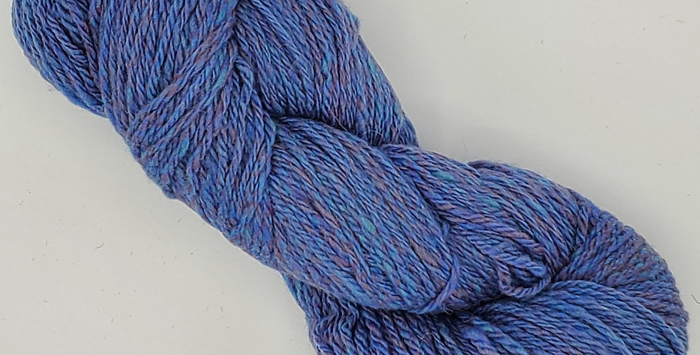 3 ply Worsted weight 100% wool yarn - Dyed Blue, Purple, Green