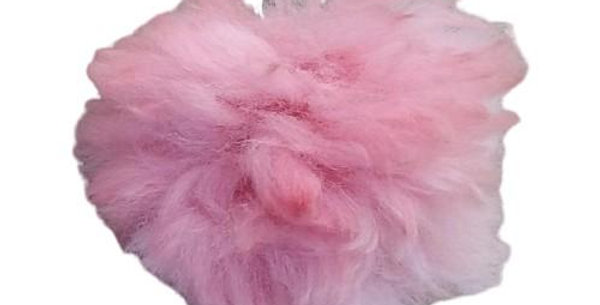 Alpaca Fuzzball Key Chain - Pink