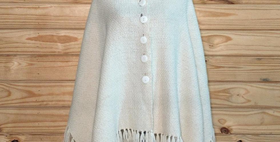 Handamade alpaca shawl - natural