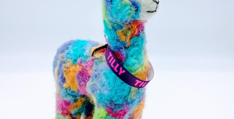 6.5″ Alpaca Fiber Sculpture - with Tilly collar