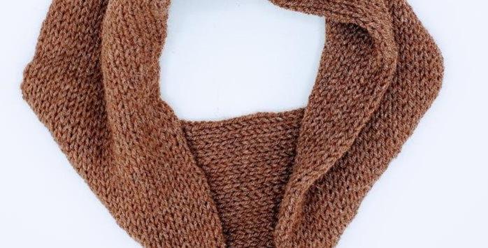 Handmade Infinity Scarf - adult - Brown
