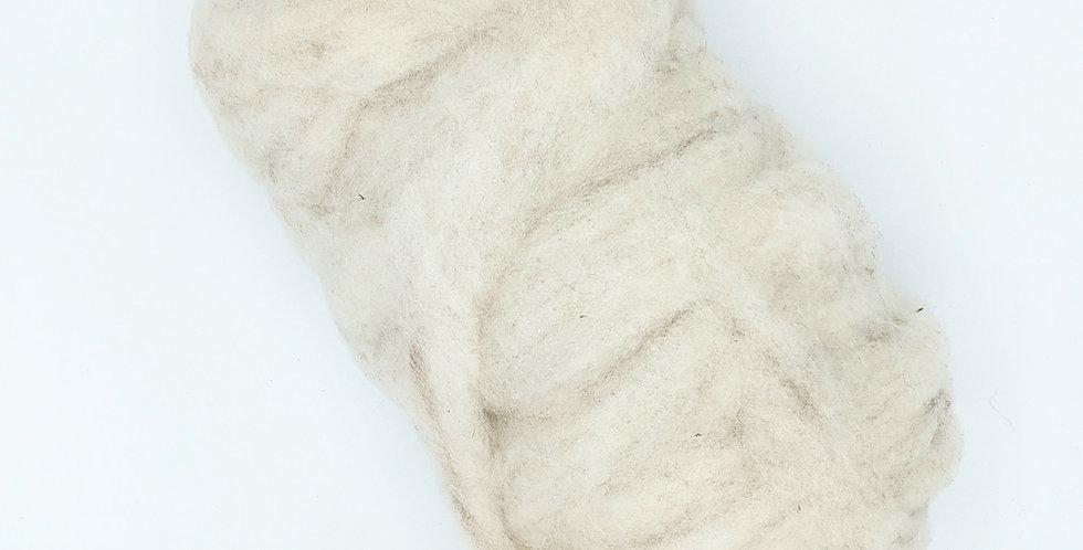 Roving - 100% Alpaca - 3.5 oz. White